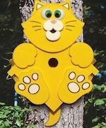 Kitty Corner Birdhouse Woodworking Plan - fee plans from WoodworkersWorkshop® Online Store - birdhouses, cats,kittens,kitty,full sized patterns,woodworking plans,woodworkers projects,blueprints,drawings,blueprints,how-to-build,MeiselWoodHobby
