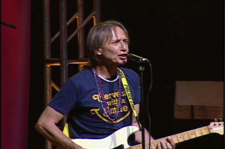 Dennis on stage