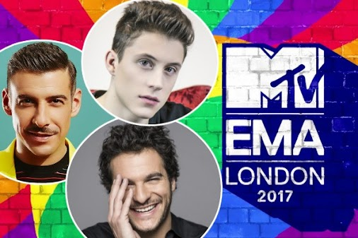 Francesco Gabbani, Loïc Nottet and Amir among Eurovision stars nominated for 2017 MTV EMAs