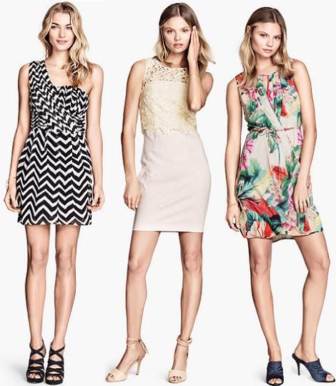 vestidos de coctel de H&M primavera verano 2014