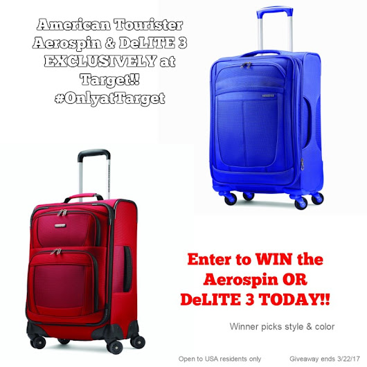American Tourister Luggage Giveaway! US, 3/22 – Thoughts and Reviews