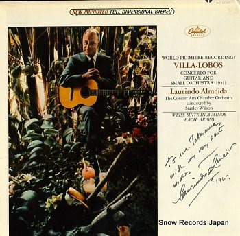 ALMEIDA, LAURINDO villa-lobos; concerto for guitar and small orchestra