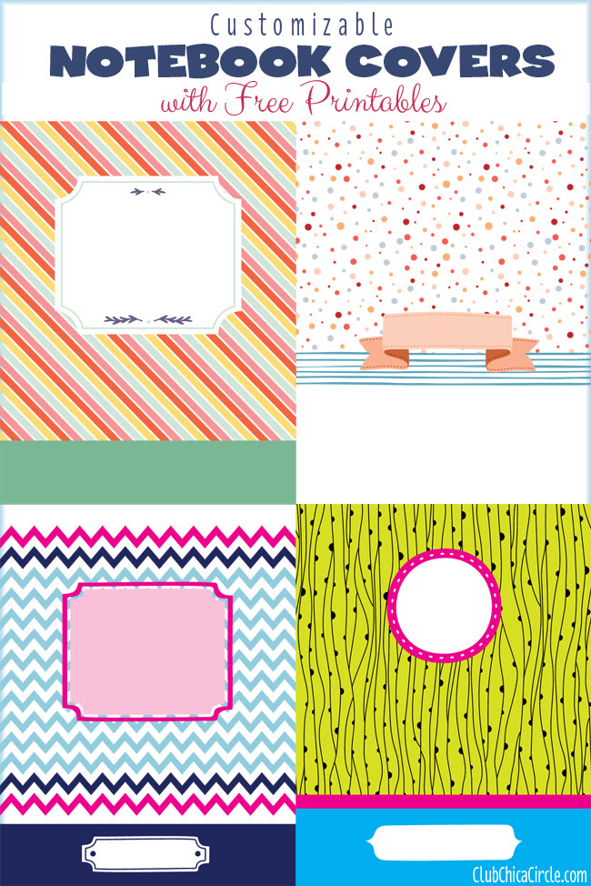 Get Organized with Customizable Notebook Cover Printables   Club ...