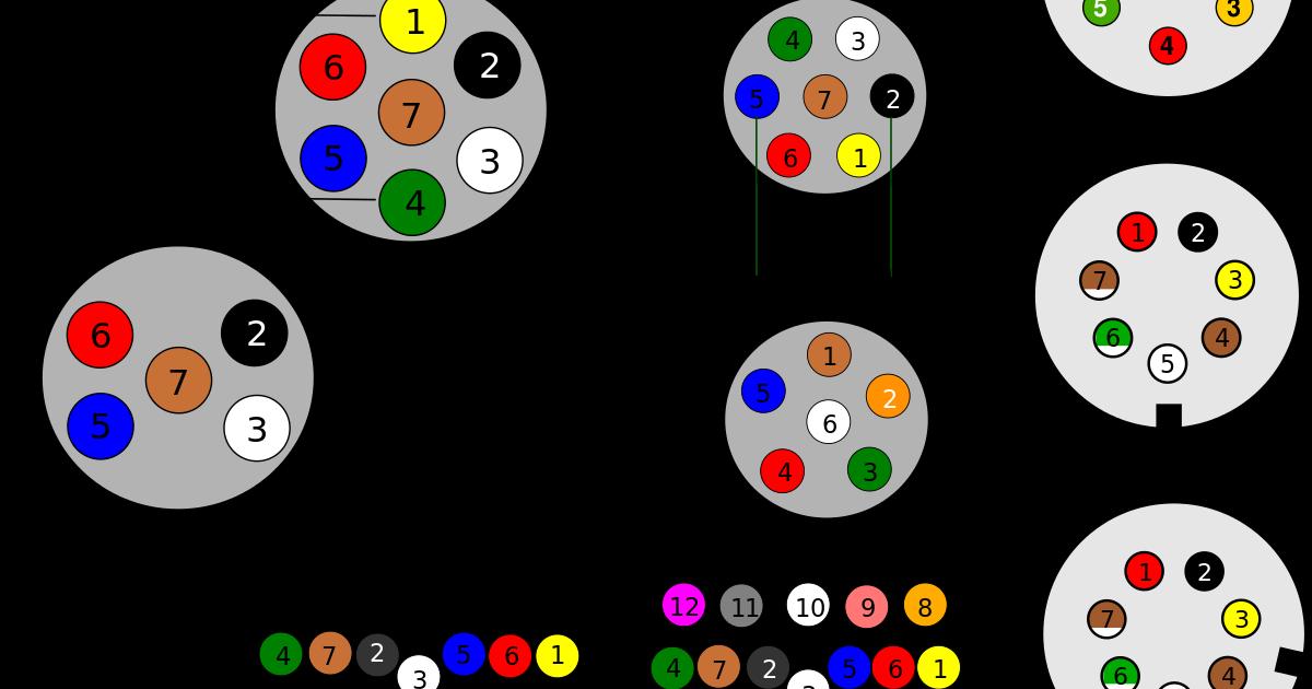 7 Pin Trailer Plug Wiring Diagram Pinterest Plugs Zip
