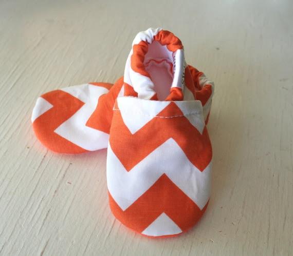 CHEVRON Baby Booties zigzag boy girl  toddler infant newborn slippers shoes aqua green grey brown black red pink navy orange yellow SWAG