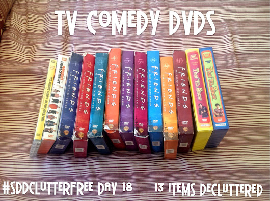 SDD Clutter Free Day 18: TV Comedy DVDs and Fluid Art Collections
