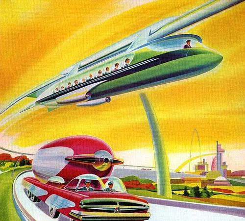 Concepção de Monotrilho a Jato da Disneylândia - Anos 50