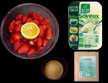 Bavarois miroir aux fraises vegan vegetalien