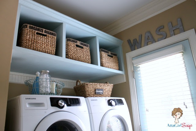Atta Girl Says: Laundry Room Built-in Storage and organization