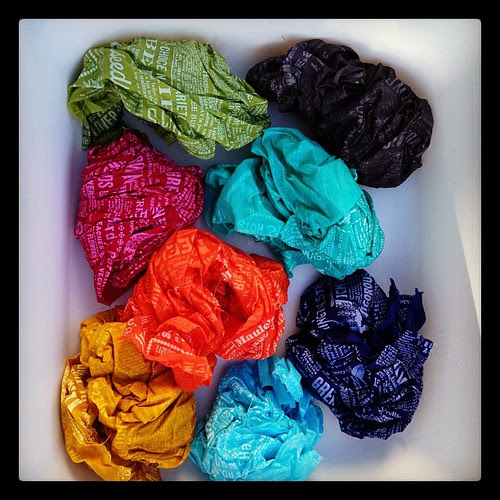 One afternoon, and 8 batches of dye later...
