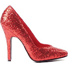 Ellie Shoes Red Glitter Women's Pumps