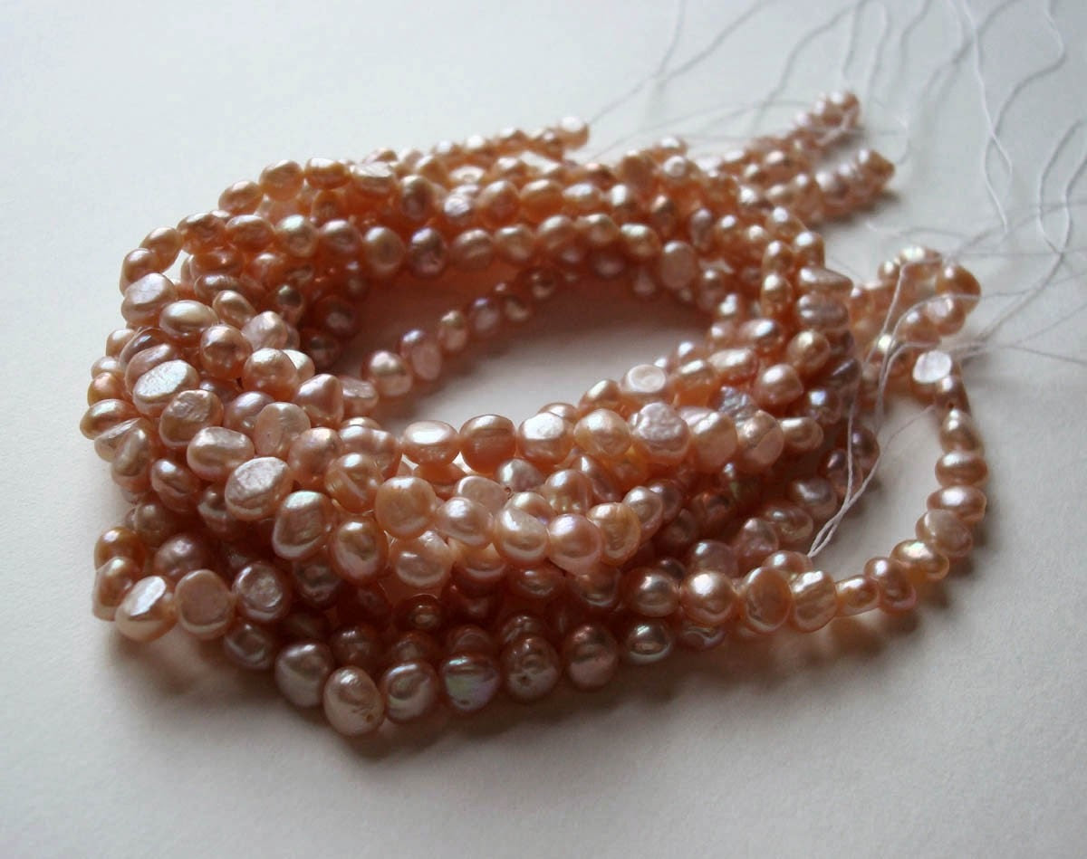 Pink Pillow Pearls 5-6mm strand