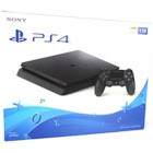 Sony PlayStation 4 Slim Gaming Console - Game Pad Supported - (Refurbished), Black