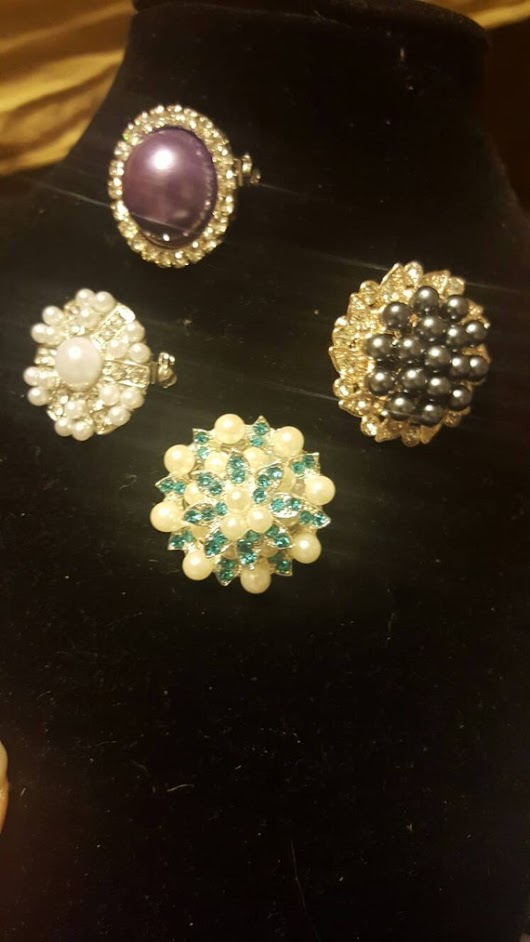 Jeweled Brooches by GenevievesSmile on Etsy