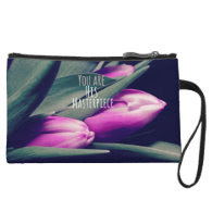 Inspirational Christian Quote His Masterpiece Wristlet