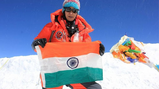 Indian woman 'sets new Everest dual ascent record' - BBC News