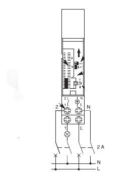 schema branchement interrupteur horaire schneider