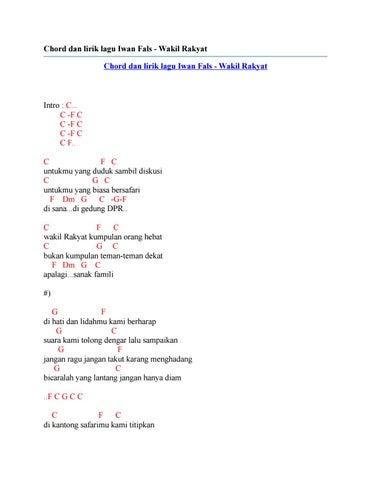 Chord Kunci Gitar Lagu Surat Buat Wakil Rakyat Iwan Fals