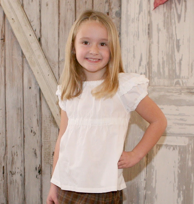 NEW Sweet Cheeks Peasant Top PDF Pattern Tutorial for girls toddlers baby and kids sizes 1-10
