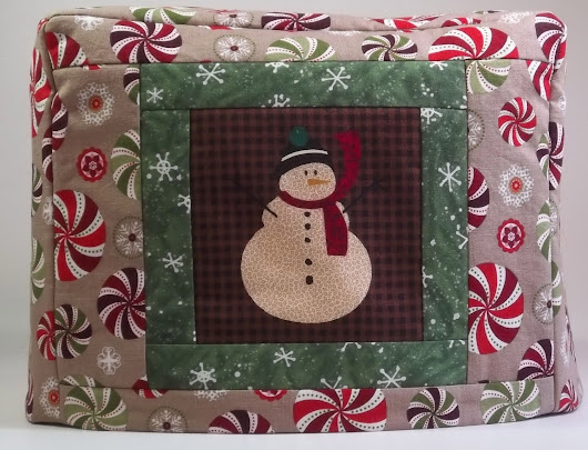 Holiday Toaster Cover  Snowman 2 slice toaster by PatsysPatchwork
