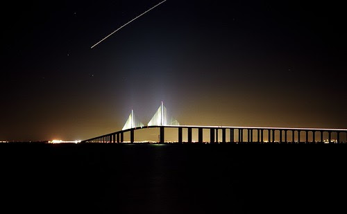 Sunshine Skyway Bridge at Night