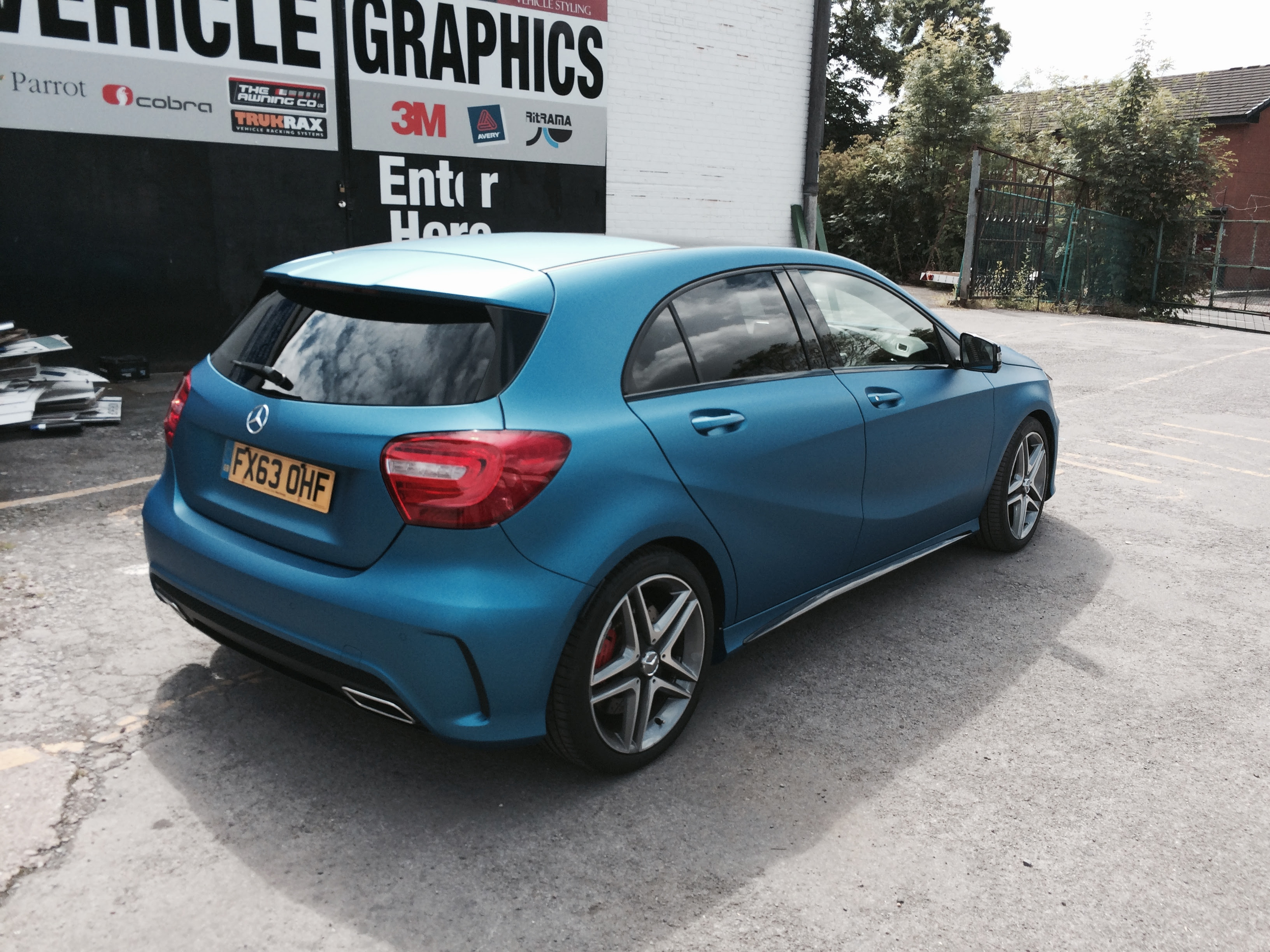 Mercedes A45 AMG Wrapped in 3M Matte Metallic Blue ...