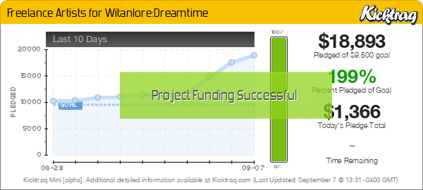 Freelance Artists for Witanlore:Dreamtime -- Kicktraq Mini