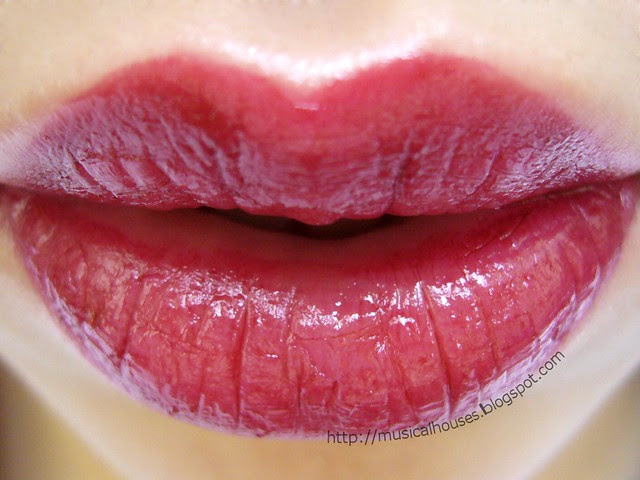 sleek cranberry lip swatch
