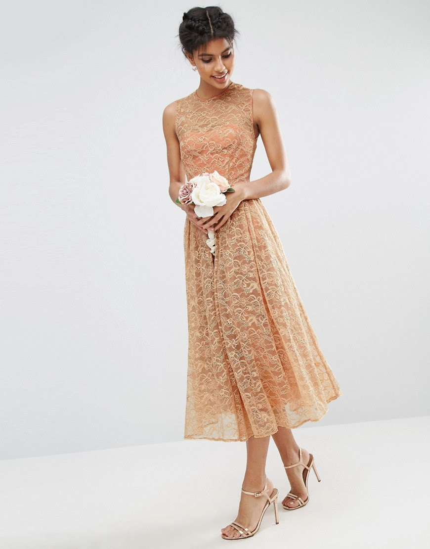 Image 1 of ASOS WEDDING Prom Dress in Lace