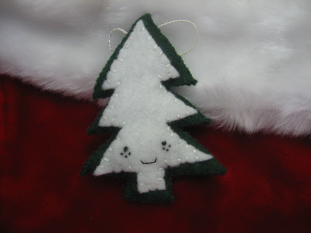 Freckled Pine Tree Ornament