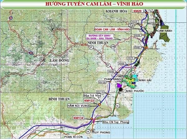 Tuyến cao tốc Bắc Nam: Cam Lâm - Vĩnh Hảo đã thống nhất tuyến