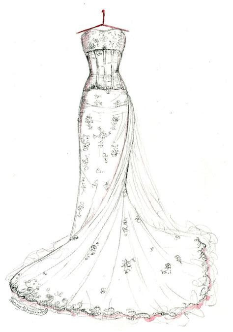 2016 Wedding Dresses : Anne Hathaway Bridal Gown Sketches