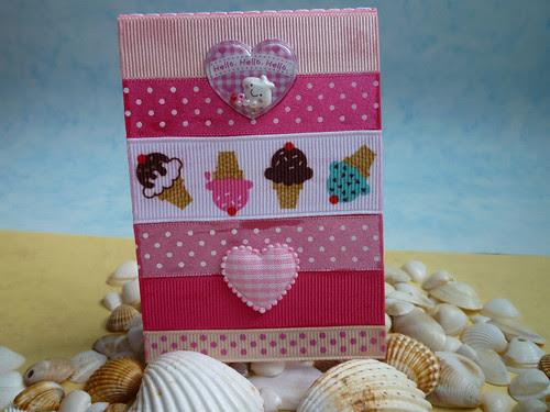 ice cream ribbon notebook