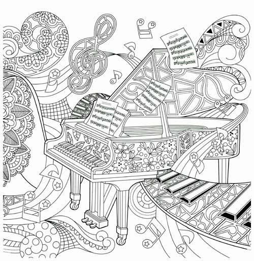 ausmalbilder grundschule musik  aglhk