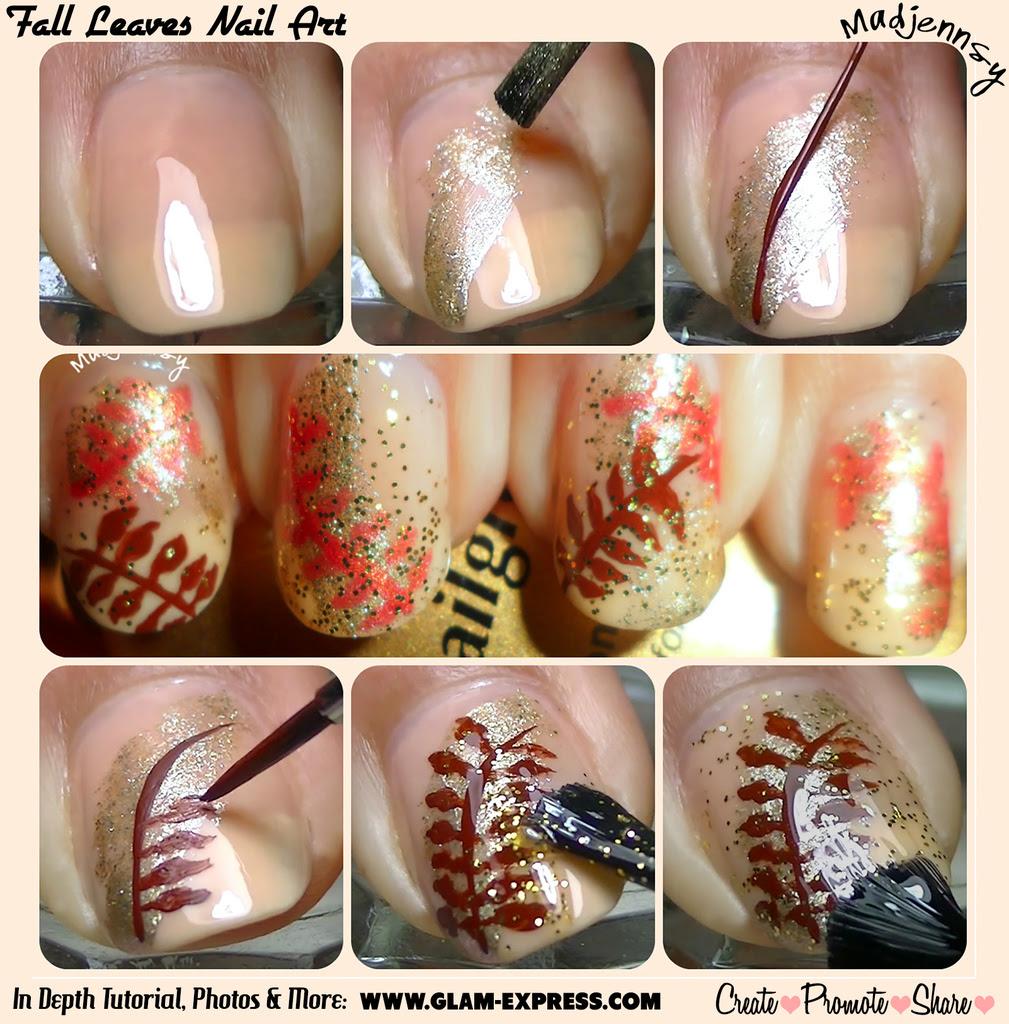 Fall Leaves Nail Tutorial - Glam Express