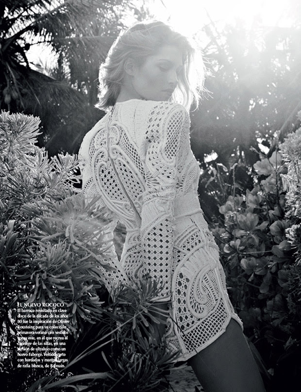SarahGoreReevesVogueMexico2 Hana Jirickova Gets Tropical for Vogue Latin Americas 2013 April Cover Shoot