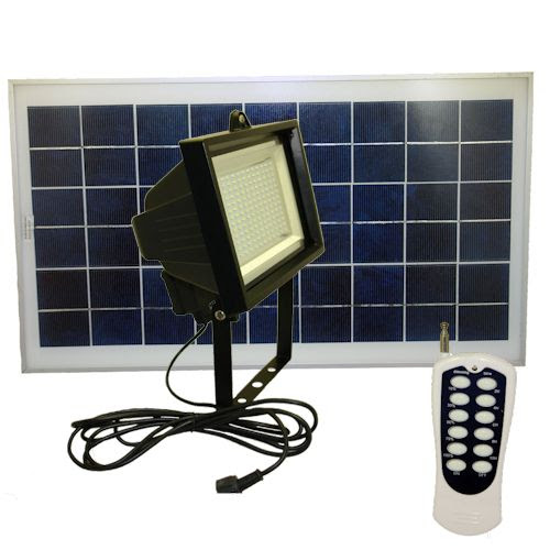 156 LEDs Solar Flood Light With Remote Control | Greenlytes