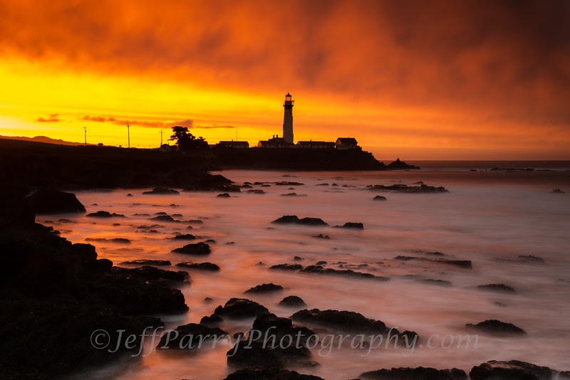 Pigeon Point sunrise king tide