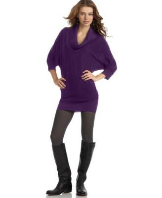 Cowl-Neck Sweater Dress Wishes