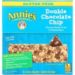 Annie's Homegrown Gluten Free Granola Bars Double Chocolate Chip - 4.9 Ounce -PACK 12