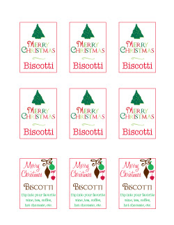Biscotti Mix in a Jar back printable