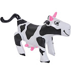 "Rhode Island Novelties Inflatable Cow, Black/White, 17"""