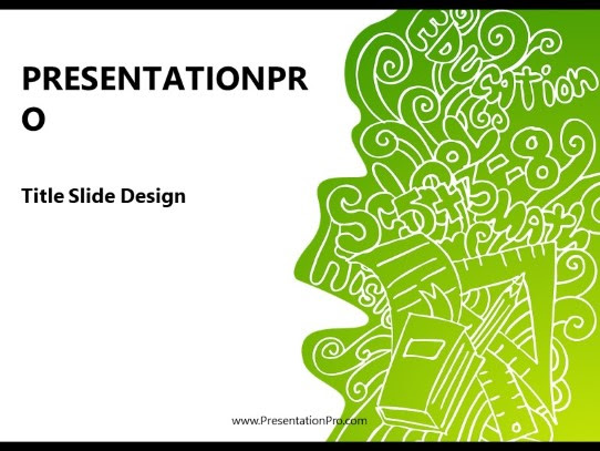 Powerpoint Templates Education Doodle Green Education Template Presentation Designs From Presentationpro