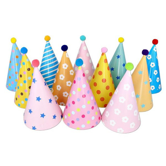 DIY Recyclable Party Hats with Pom Poms ⋆ Metro Mom Club