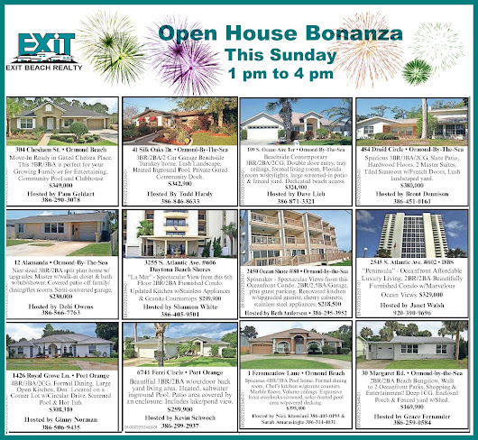 EXIT Beach Realty - Open Houses - Greater Daytona Beach