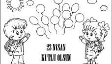 23 Nisan Ulusal Egemenlik Ve çocuk Bayramı Atatürk Boyama Sayfası