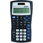 Texas Instruments TI-30X IIS 2-Line Scientific Calculator, Black with Blue