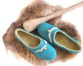"Malard/mustad handmade felt slippers ""Wild Dances"". - Briga"