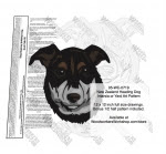 New Zealand Heading Dog Intarsia or Yard Art Woodworking Pattern - fee plans from WoodworkersWorkshop® Online Store - dogs,pets,intarsia,yard art,painting wood crafts,scrollsawing patterns,drawings,plywood,plywoodworking plans,woodworkers projects,workshop blueprints