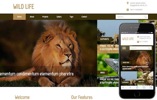Wild Life a Animal Category Flat Bootstrap Responsive Web Template by w3layouts